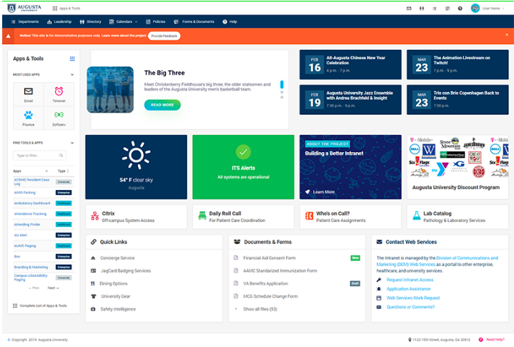 screenshot of a webpage