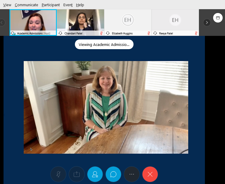 screenshot of video conference