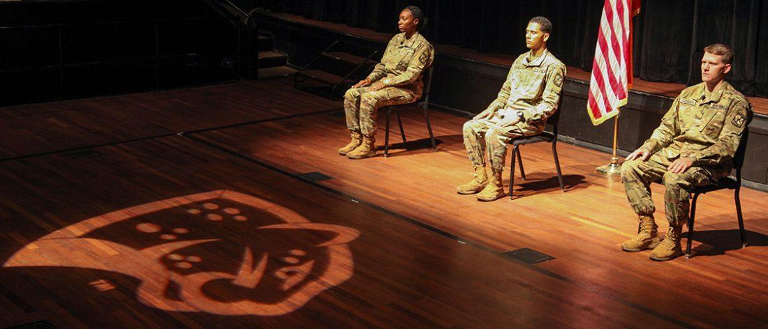 Cadets sitting