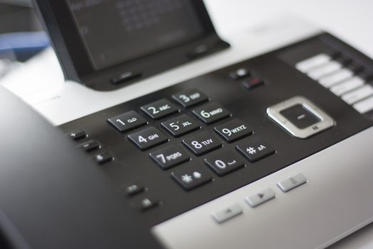 An image of the keypad of a phone.