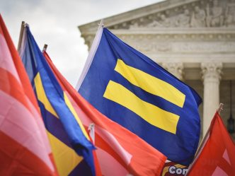 An image of flags of equality.