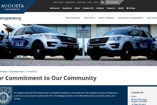 Police webpage