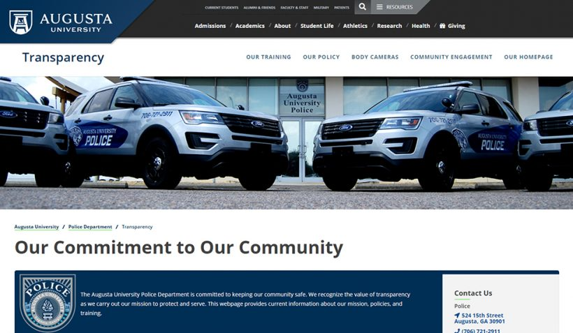 Police webpage