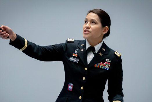 Julianna Rodriguez presenting at the Georgia Cyber Center