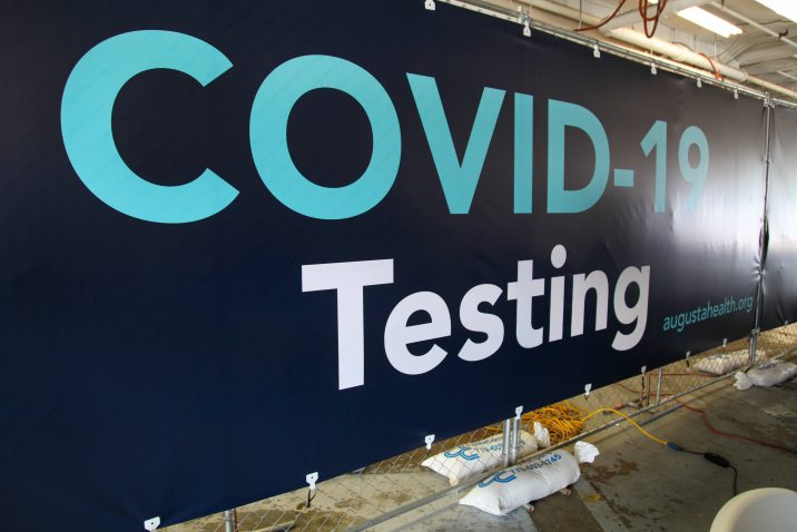 covid testing sign