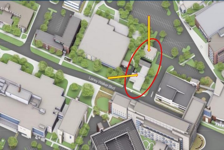 aerial diagram of buildings
