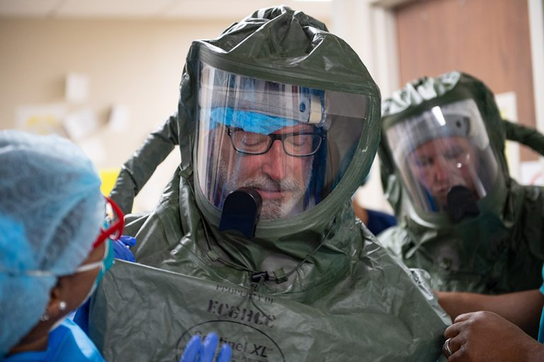 Man in PPE