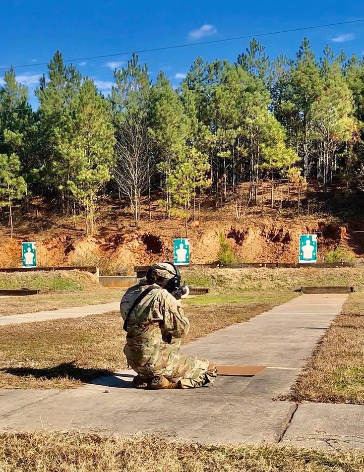 cadet firing rifle