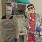 Two Respiratory therapists in PPE
