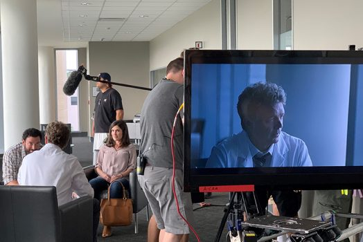 Movie being filmed