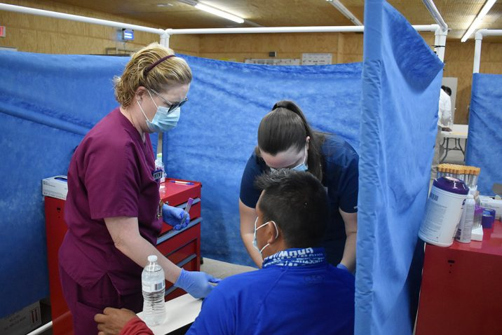Women helping patients