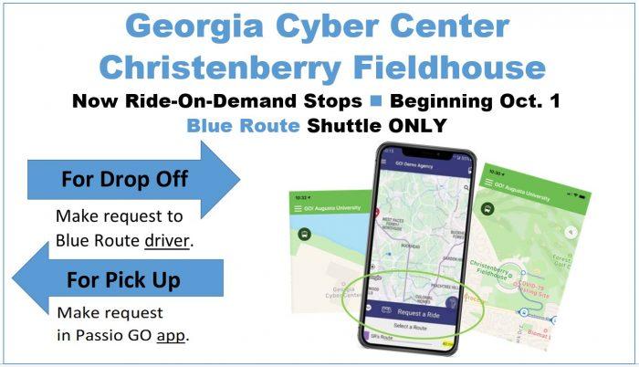Shuttle Sign for On-Demand Stops