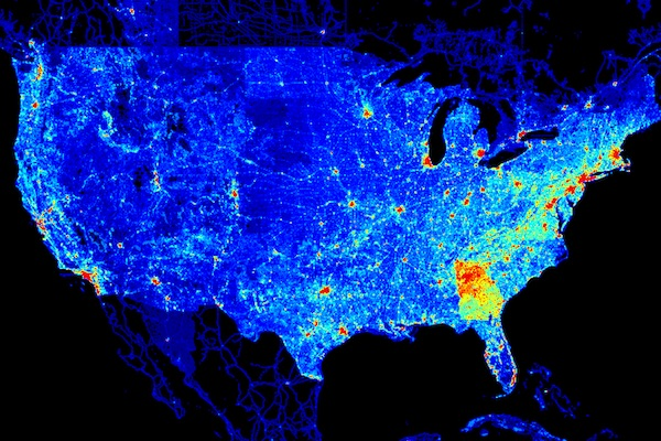 heat map of America