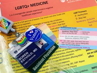 badge with badge pull and cards on lgbtq+