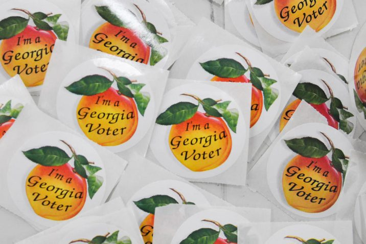 Georgia voting stickers