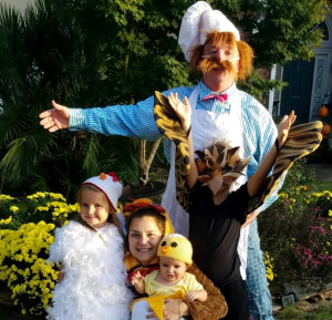 Family in costumes