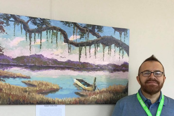 Local artist Richard Worth volunteers his talents to Augusta University Health