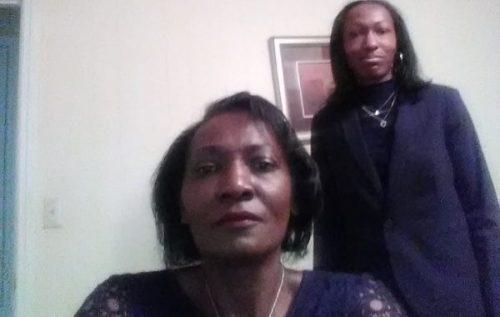 Woman and daughter selfie