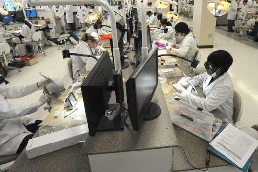 dental lab students