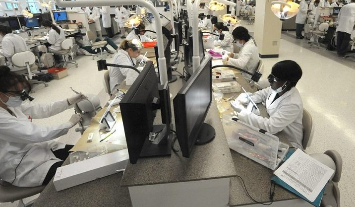 dental lab students