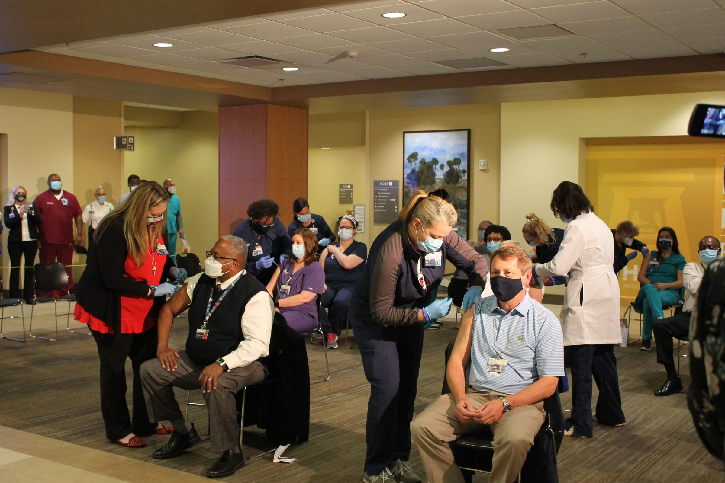 Augusta University Health administers first COVID-19 vaccine to frontline caregivers