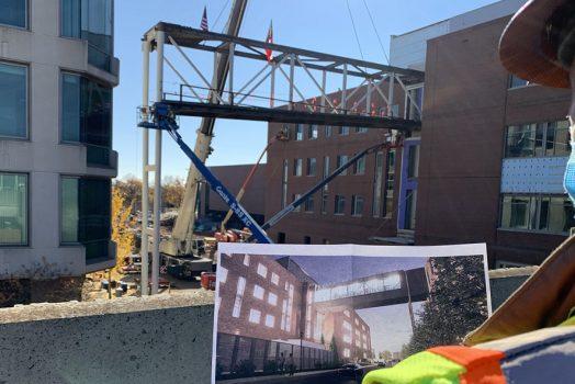 Steel truss construction