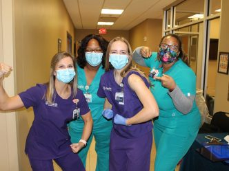 nurses with masks on