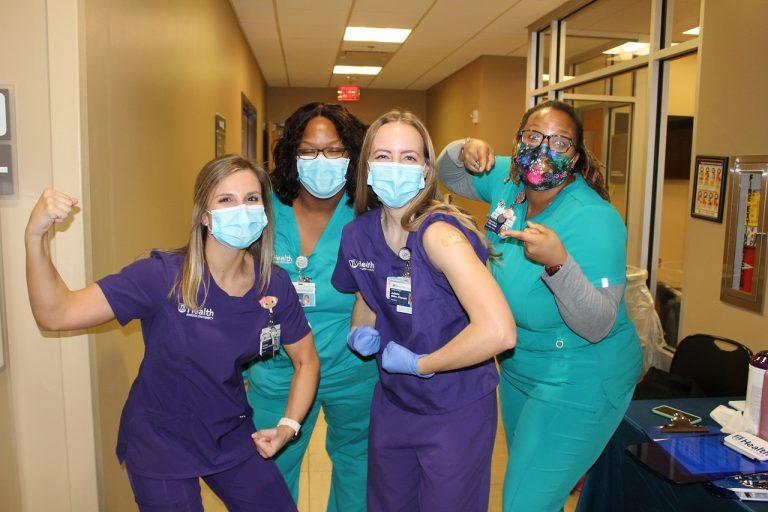 nurses with masks on