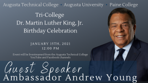 flyer of 2021 MLK Celebration event
