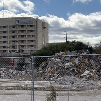 pile of rubble from building demolition