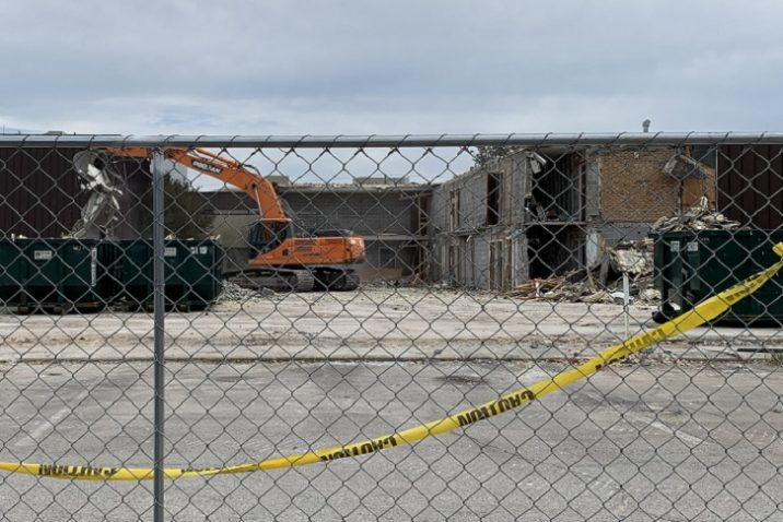 inner part of old hotel being torn down