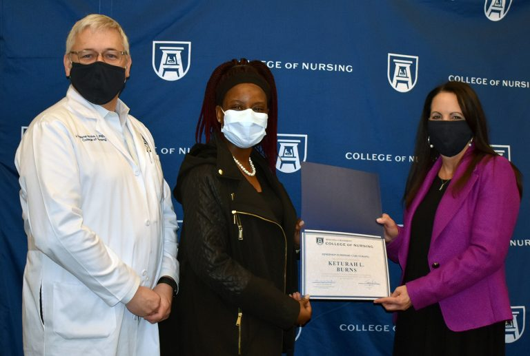 Graduate presented award.