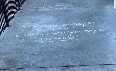 inspirational chalk drawing