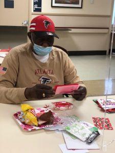 Veteran receiving cards