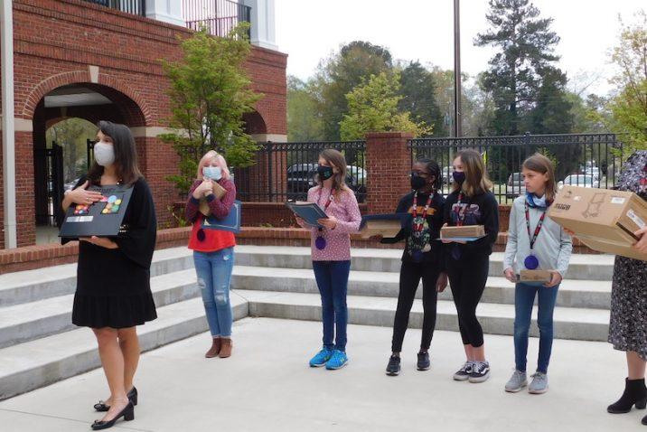 group receiving an award