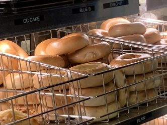 bagel display case