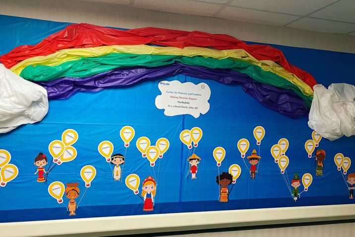 Wall of paper balloons