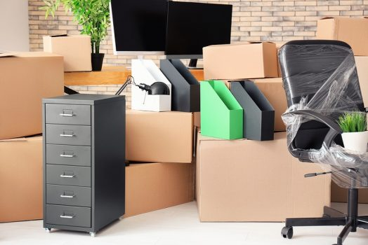 packed office for move