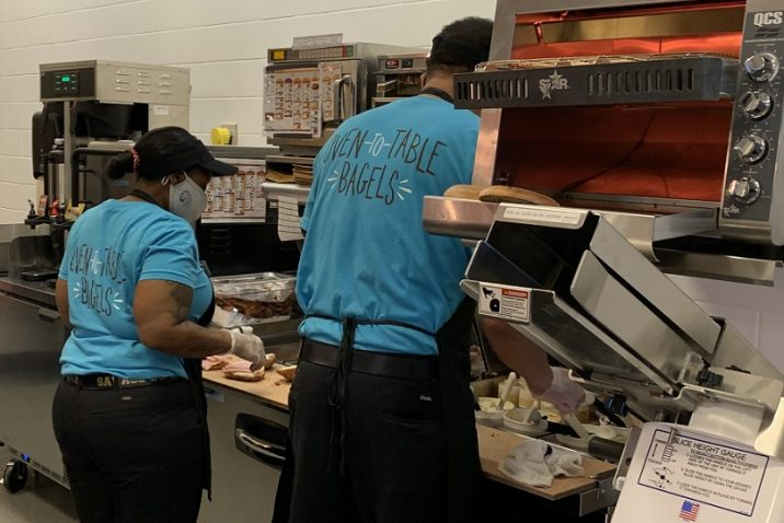 workers make sandwiches