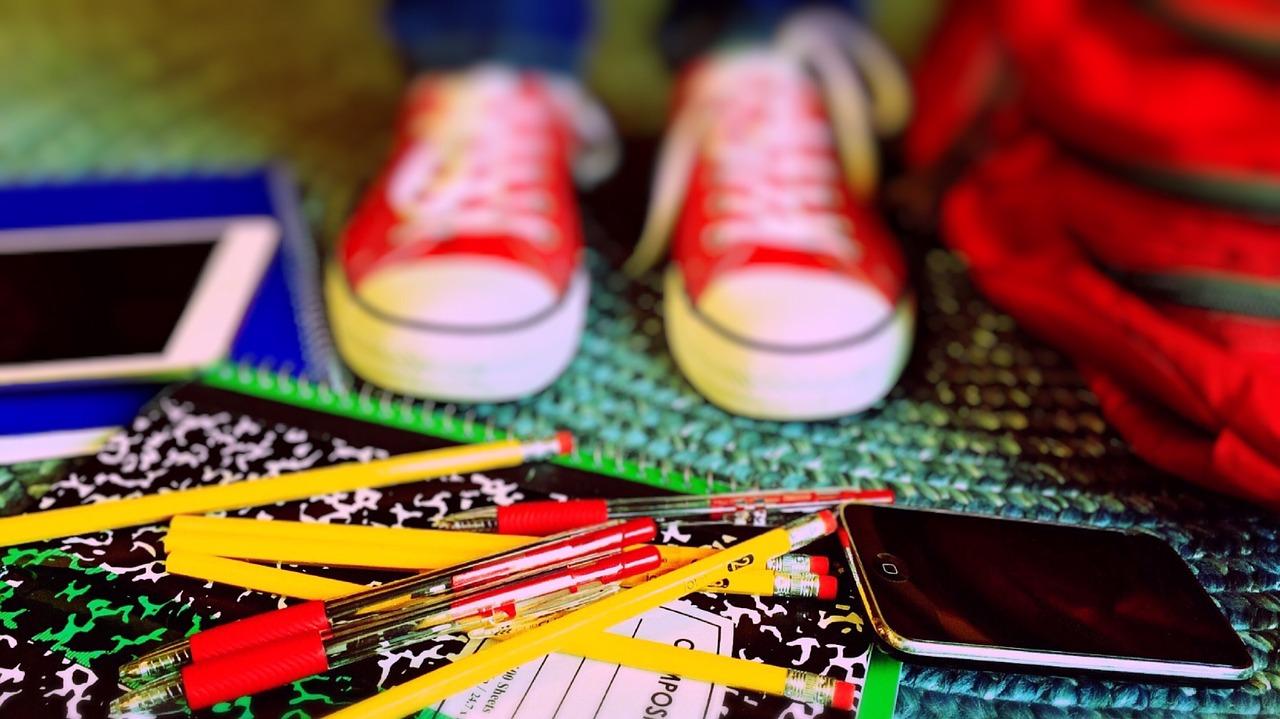 School supplies, tennis shoes