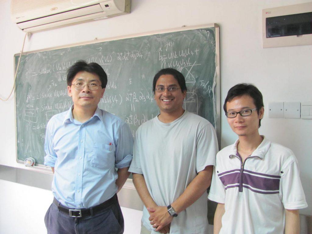 Three men standing
