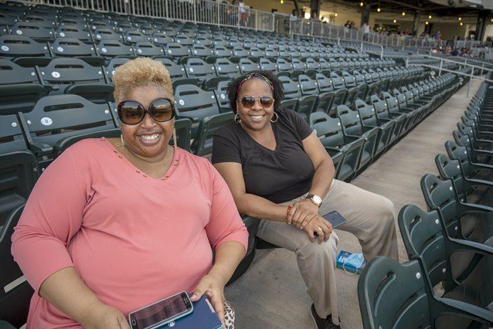 People at ballpark