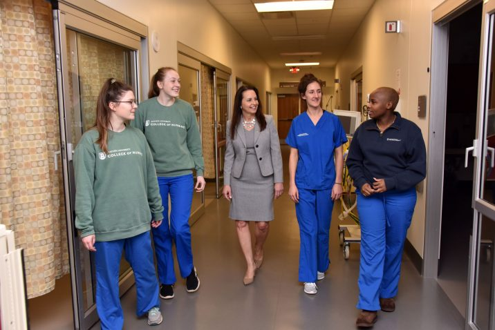 photo from article College of Nursing dean funds nursing scholarship