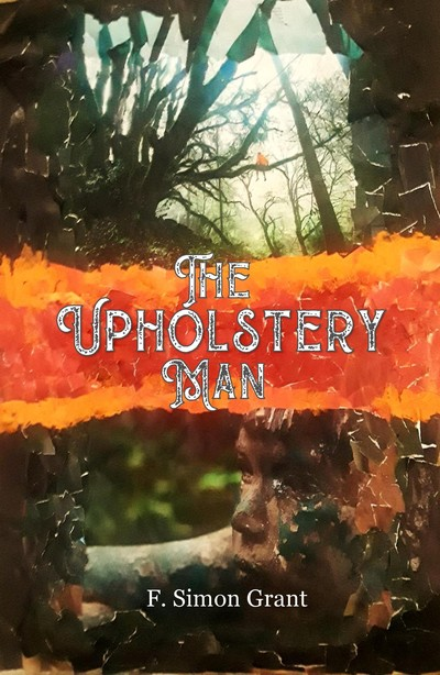 cover of 'The Upholstery Man' book; features young boy in the woods