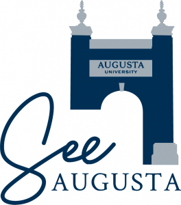 """logo of the """"See Augusta"""" event, featuring the Augusta University archway"""